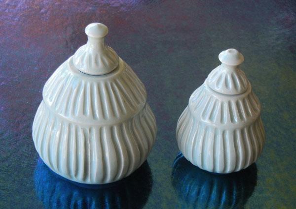 Image Mary Meyers Ribbed Pear Jars