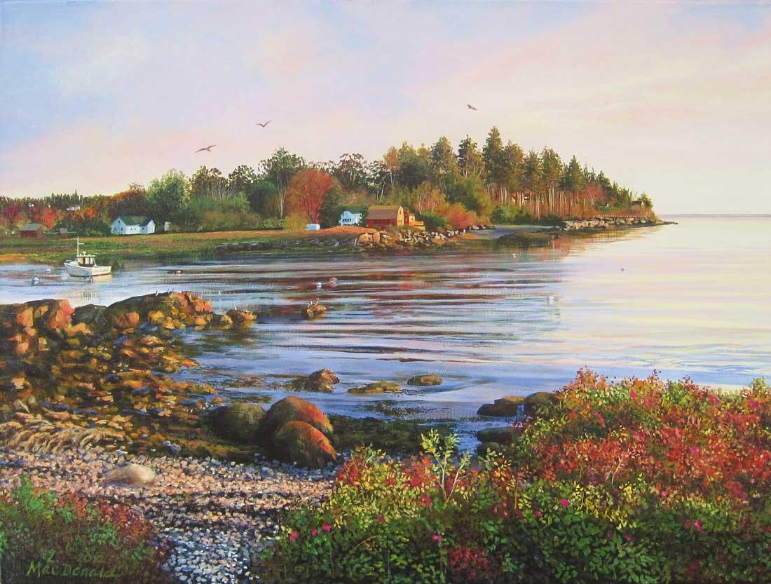 Image Lori MacDonald-A September Eve on Bailey Island
