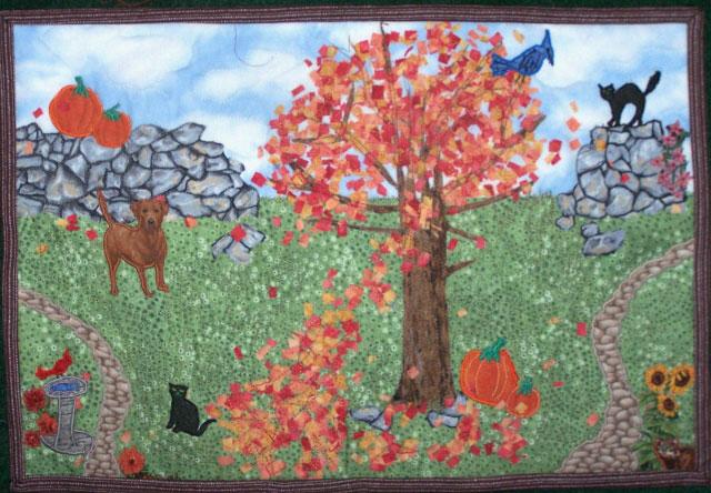 Image Jan Queijo-Autumn Scene Quilt