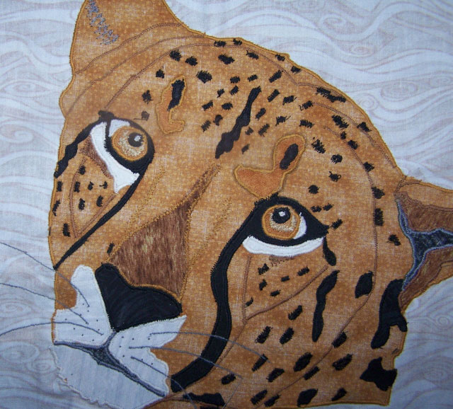Image Jan Queijo-Cheetah from Jungle Quilt