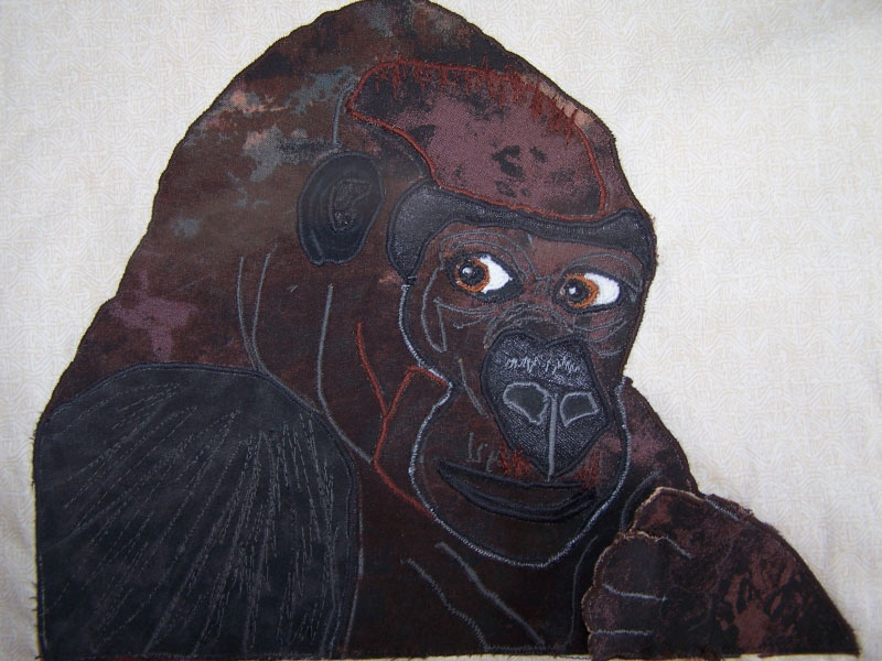 Image Jan Queijo-Gorilla from Jungle Quilt