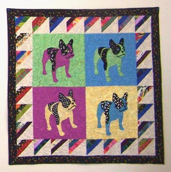 Image Queijo Pup Art Quilt