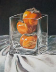 Image Gary Ruuska-Persimmons in a Square Vase