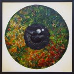 "Autumn Eye, Acrylic, 24""w x 24""h, 2012"
