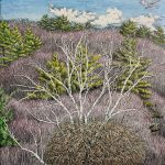 First Blush of Spring, 12x16, scratchboard, 2012