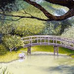 Garden Bridge, Oil Painting