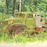 Pete's Truck, 8x11, watercolor, 2010