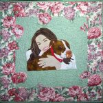 Rachael Ray and her Pit Bull, Isaboo, Quilt