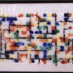 Subway Map, Encaustic