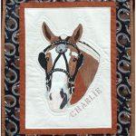 Charlie, Belgian Horse, Memorial Quilt