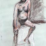 """Conte Crayon, 18"""" x 24"""", 2009"""