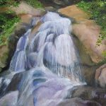 Waterfall, Oil on Canvas