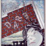 """Bricks and Mortar, Mixed Media, 21""""w x 27""""h, 2011"""