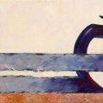 "Cloudy Hands, Acrylic, 36""w x 18""h, 2013"