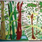 "Jungle Walk, Digital Art 8""x10"" matted image"