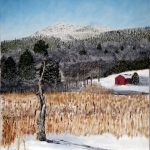 Monadnock in Snow, Oil Painting