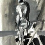 """Latex Paint & Charcoal, 18"""" x 24"""", 2007"""