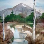 Mount Monadnock - Route 12, Watercolor