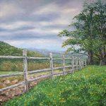 Vermont Evening, Oil on Canvas