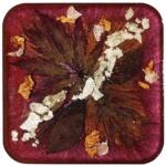 Autumn Gold Resin Coaster-Deb Giordano
