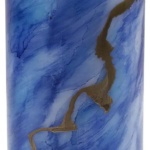 Blue Gold Candle-Janet Reed
