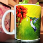 Hummingbird Mug-Janet Reed