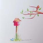 Notecard Birdhouse-Eleanor Sweetwood
