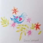 Notecard Bluebird-Eleanor Sweetwood