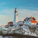 Notecard Portland Head Lighthouse-Michael Pellegrini