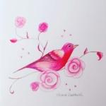 Notecard Red Bird-Eleanor Sweetwood