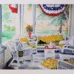 Notecard Tea Time Porch-Deborah Giordano