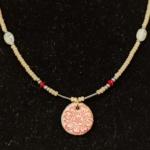 Red Pendant Clay Beads-Ann Benard