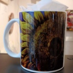 Sunflower Mug-Janet Reed