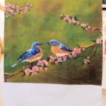 Towel Blue Birds-Janet Reed