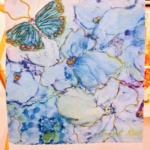 Towel Butterfly Blue-Janet Reed